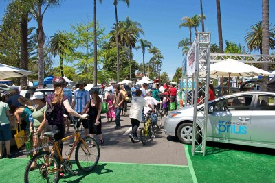 A sunny Santa Barbara day celebrating Mother Earth at Earth Day.